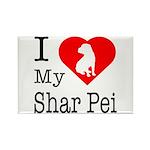 I Love My Shar Pei Rectangle Magnet (100 pack)