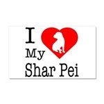 I Love My Scottish Terrier Car Magnet 20 x 12