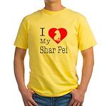 I Love My Shar Pei Yellow T-Shirt