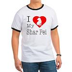 I Love My Shar Pei Ringer T