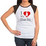 I Love My Scottish Terrier Women's Cap Sleeve T-Sh