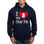 I Love My Shar Pei Hoodie (dark)