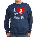 I Love My Scottish Terrier Sweatshirt (dark)
