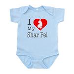 I Love My Scottish Terrier Infant Bodysuit