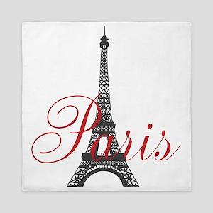 Paris Always (rouge) Queen Duvet