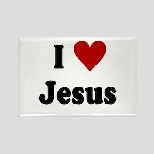 I Love Jesus Rectangle Magnet