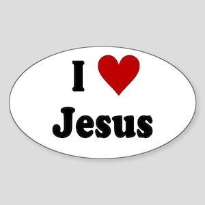 I Love Jesus Sticker (Oval)