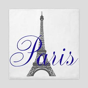 Paris Always (blue) Queen Duvet