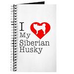 I Love My Siberian Husky Journal