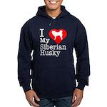 I Love My Siberian Husky Hoodie (dark)