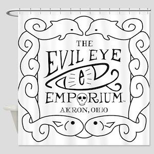 Evil Eye Emporium Sign Shower Curtain