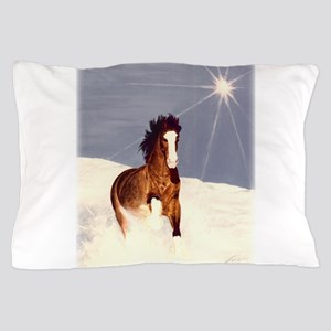Starlight Snow Run Pillow Case