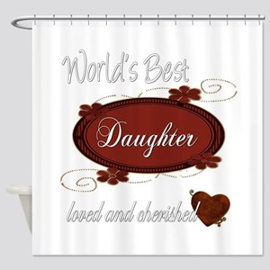 Cherished Daughter Shower Curtain