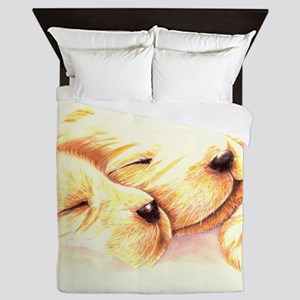 Golden Dreams Queen Duvet