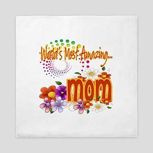 Most Amazing Mom Queen Duvet
