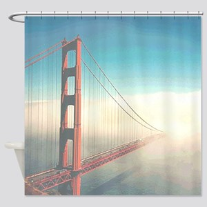 Golden Gate Fog Shower Curtain