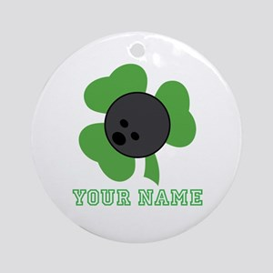 Personalized Irish Bowling Gift Ornament (Round)