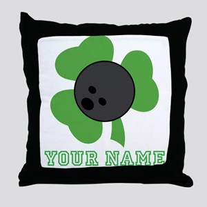 Personalized Irish Bowling Gift Throw Pillow