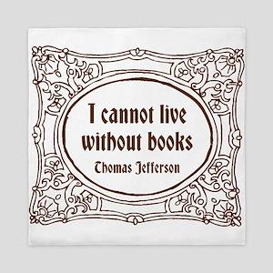 Thomas Jefferson (brown) Queen Duvet