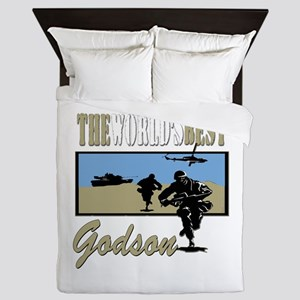 Military Godson Queen Duvet