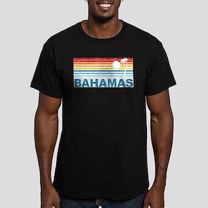 Retro Bahamas Palm Tree Men's Fitted T-Shirt (dark