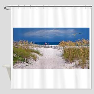 Carefree Beach Days Shower Curtain