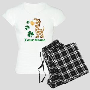 Personalized Irish Giraffe Women's Light Pajamas