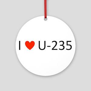 I love Uranium Ornament (Round)