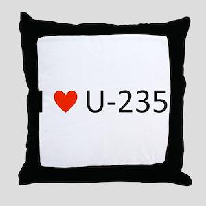 I love Uranium Throw Pillow