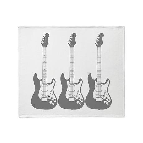 Three Guitars. Throw Blanket