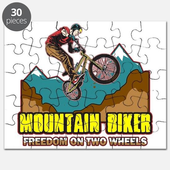 Mountain Biker Freedom Puzzle