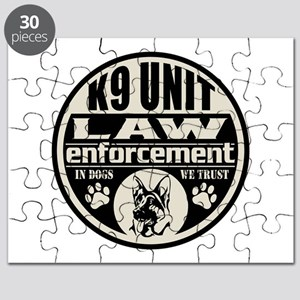 K9 In Dogs We Trust Black Puzzle