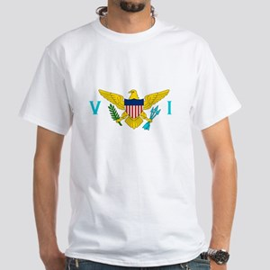 Virgin Islands Flag White T-Shirt