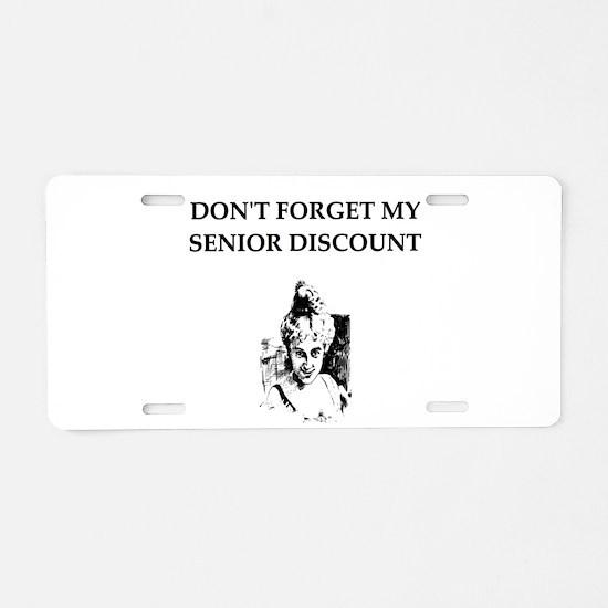 retiree senior citizen Aluminum License Plate