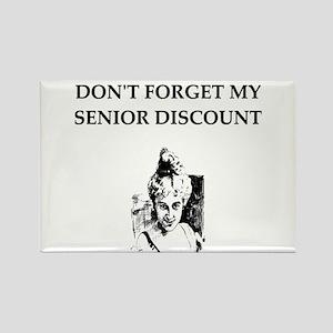 retiree senior citizen Rectangle Magnet