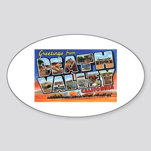 Death Valley Greetings Oval Sticker