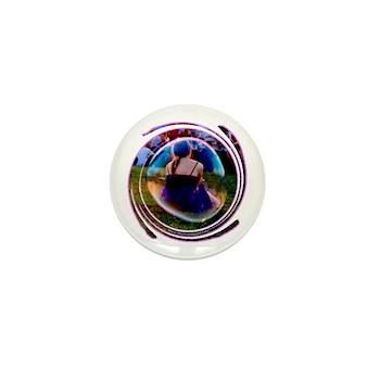 The Bubble Girl Mini Button
