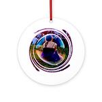 The Bubble Girl Ornament (Round)
