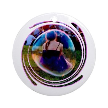 The Bubble Girl Ornament (Round)