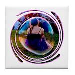 The Bubble Girl Tile Coaster