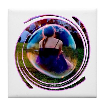 The Bubble Girl Tile Coaster