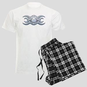 Ornate Wiccan Triple Goddess Men's Light Pajamas
