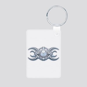 Ornate Wiccan Triple Goddess Aluminum Photo Keycha