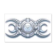 Ornate Wiccan Triple Goddess 22x14 Wall Peel