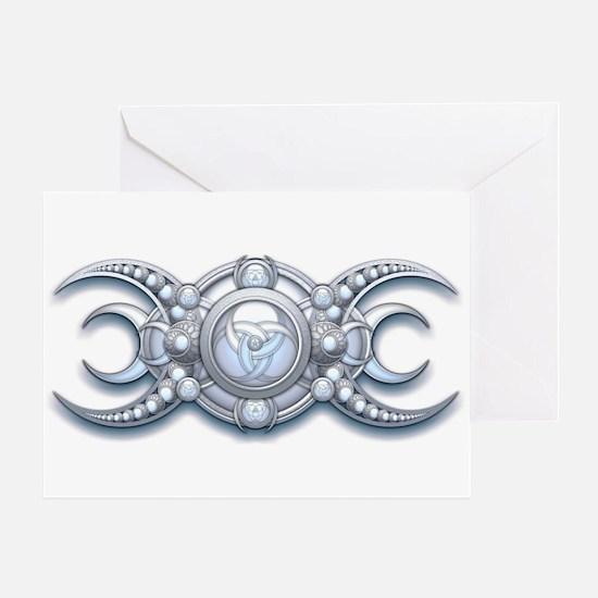 Ornate Wiccan Triple Goddess Greeting Card