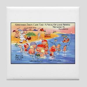 Cape Cod Humor Tile Coaster