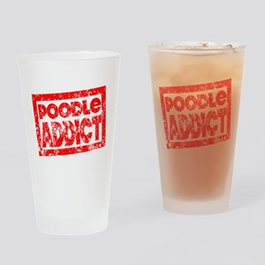 Poodle ADDICT Drinking Glass