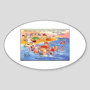Cape Cod Humor Oval Sticker