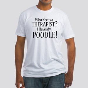 THERAPIST Poodle Fitted T-Shirt