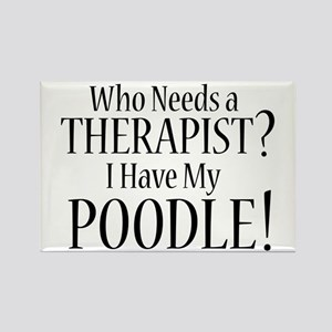 THERAPIST Poodle Rectangle Magnet